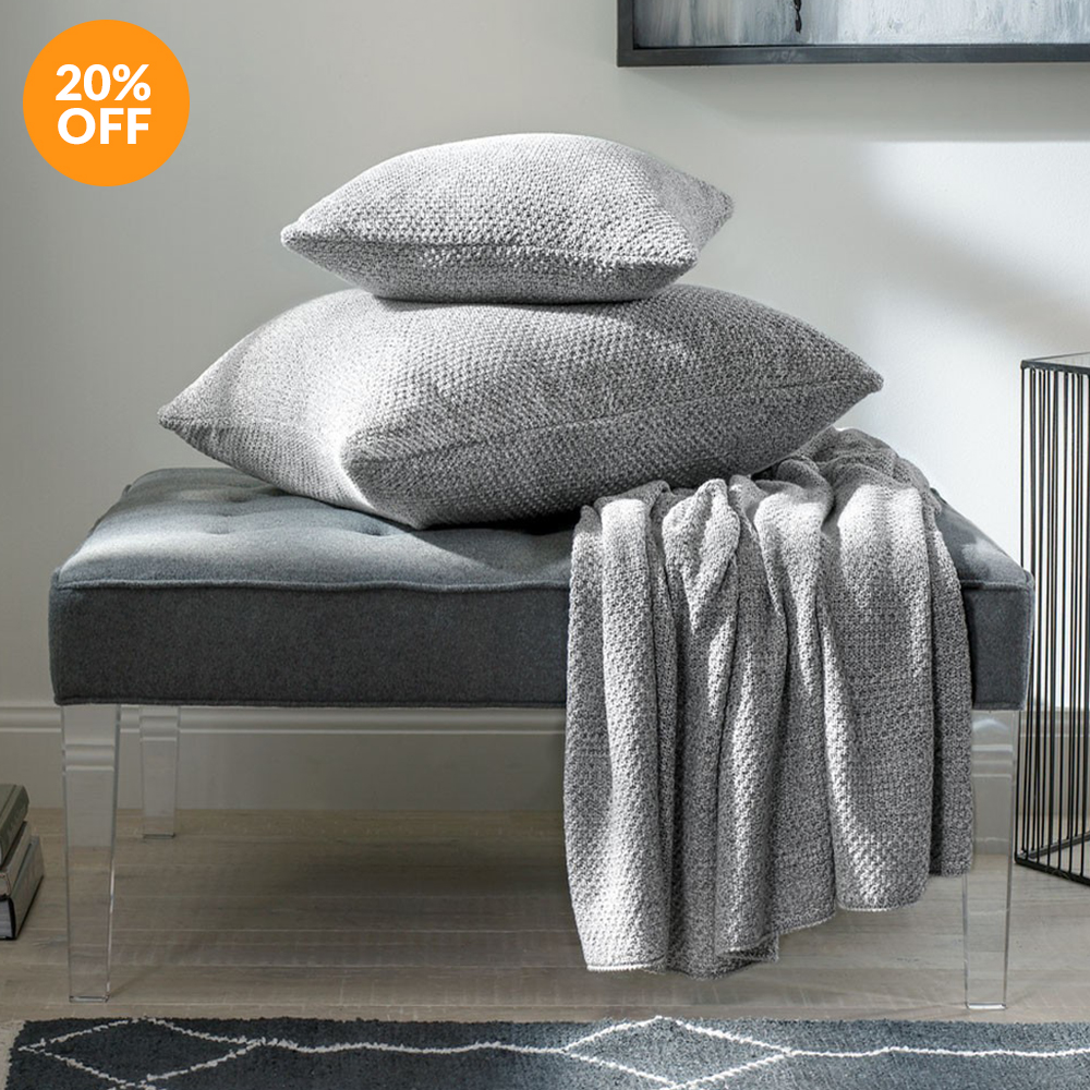 CLEARANCE EARLEY THROW - DOVE BY SHERIDAN
