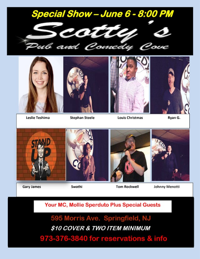 Flier for stand-up showcase.