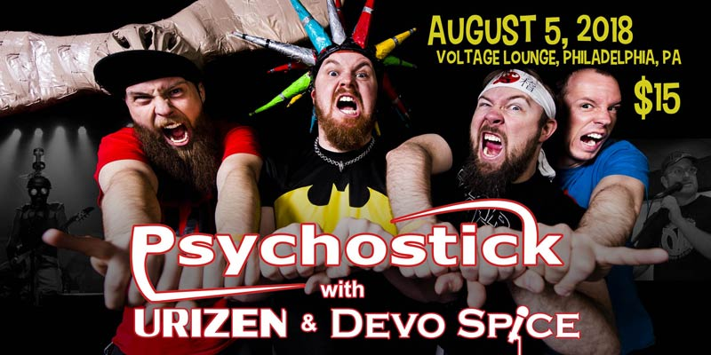 Psychostick with Devo Spice - August 5, 2018 at Voltage Lounge, Philadelphia PA