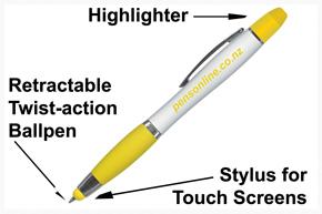 Highlighter + Stylus + Ballpen