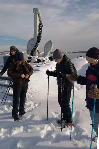 SATA walkers explore Taylor Head Trail