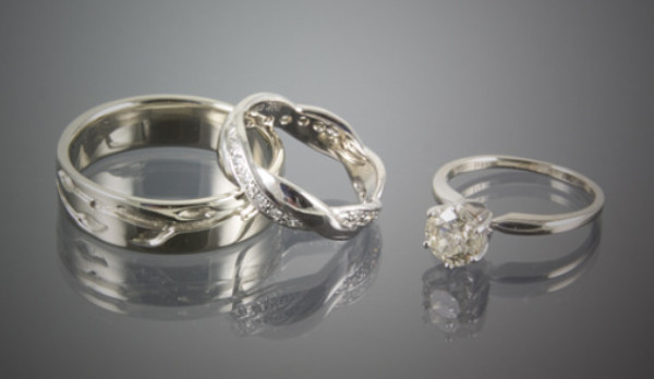 14K Wedding Ring Set