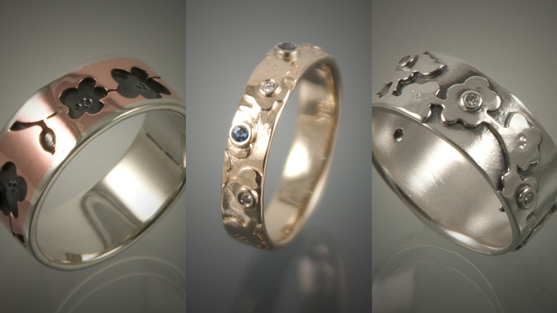 14K Gold Trout Rings