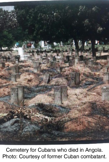 Cemetery in Angola for Cuban who died during the war