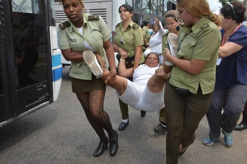 "The ""Damas de Blanco"" group is abused and beaten when its female members march peacefully claiming respect for human rights."