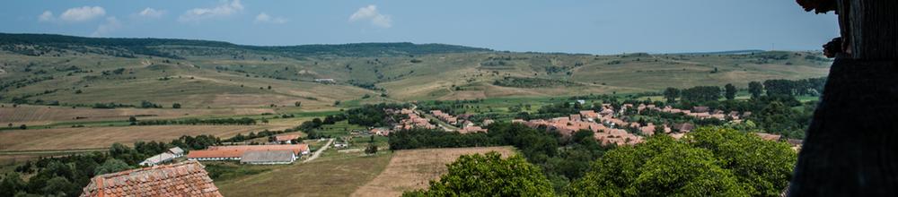 Uitzicht vanop de weerkerk te Viscri