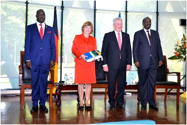 President Joachim Gauck with EAC Secretary General Dr. Richard Sezibera