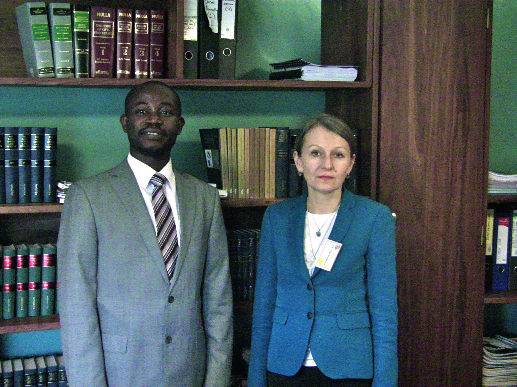 ASP President Tiina Intelman on her visit to PALU Secretariat
