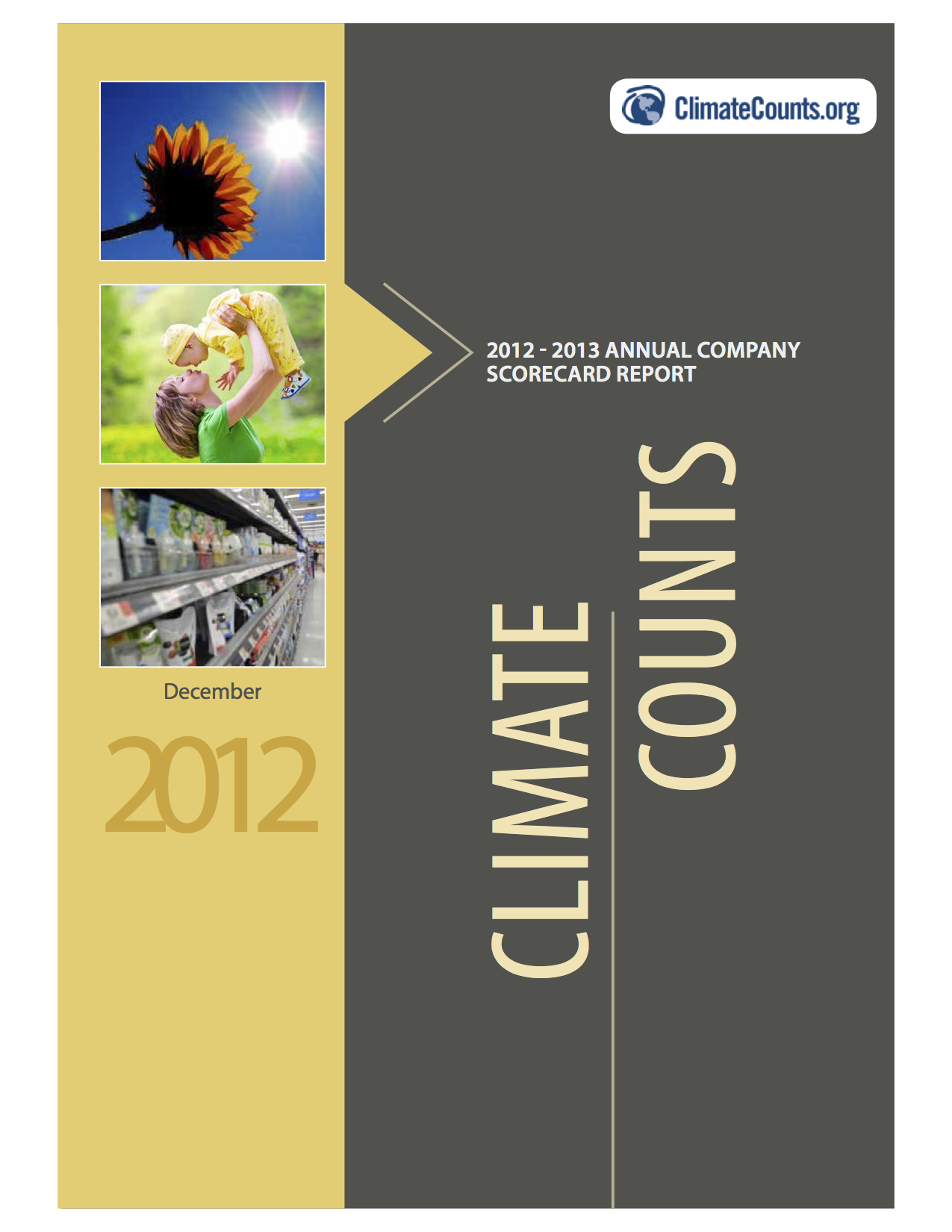 Climate Counts 2012 Annual Company Scorecard Report