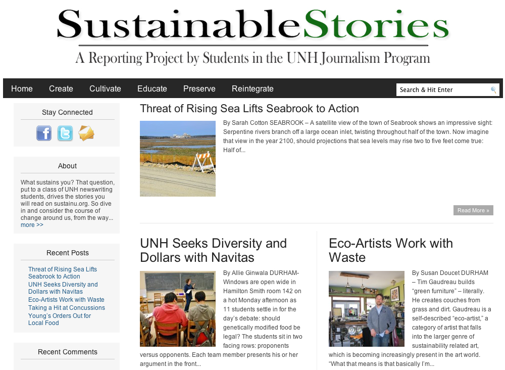 Sustainable Stories: www.sustainu.org