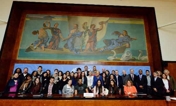 Les élèves à l'ONU, pour une journée d'immersion