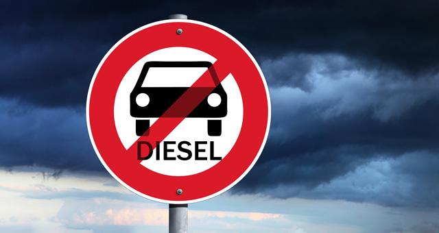 Verkehrsschild Dieselfahrverbot