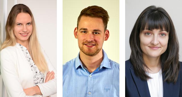 DVFG-Personal: Dr. Anda Sulce, Simon Widrinna, Gergana Baycheva