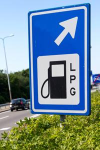 LPG-Hinweisschild