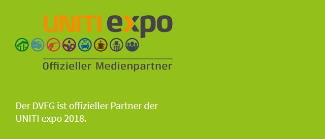 UNITI expo Offizieller Medinepartner - Der DVFG ist offizieller Partner der INITI expo 2018