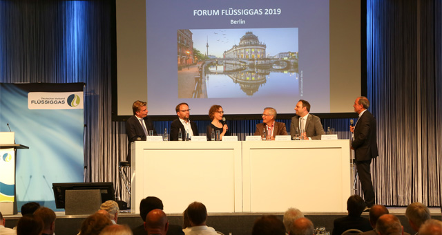 Podiumsdisskussion beim Forum Flüssiggas 2019