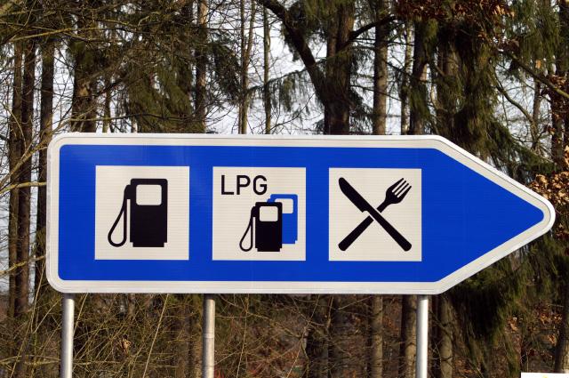 Verkehrsschild LPG Autogas