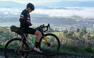 Sarah Hammond on bike