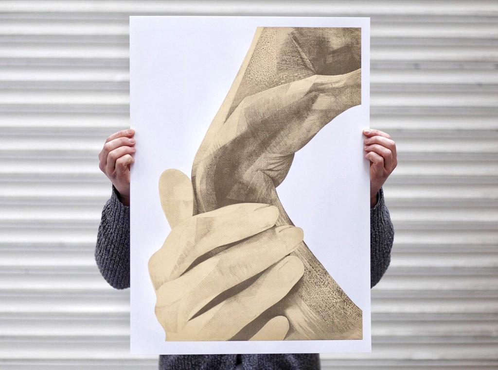 ShopVon —Sunday 10:14 screen print by London based artist Von.