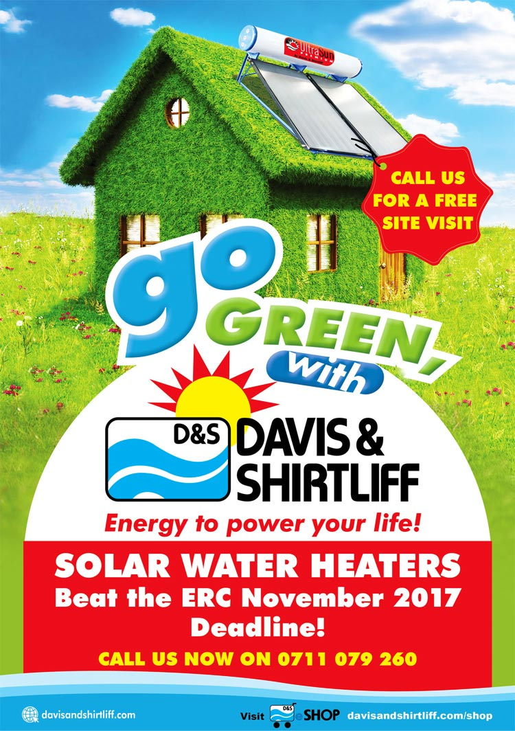 GO Green with the Davis and Shirtliff Solar Water Heaters