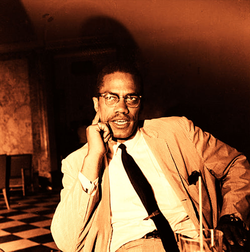Cool picture of Malcolm X