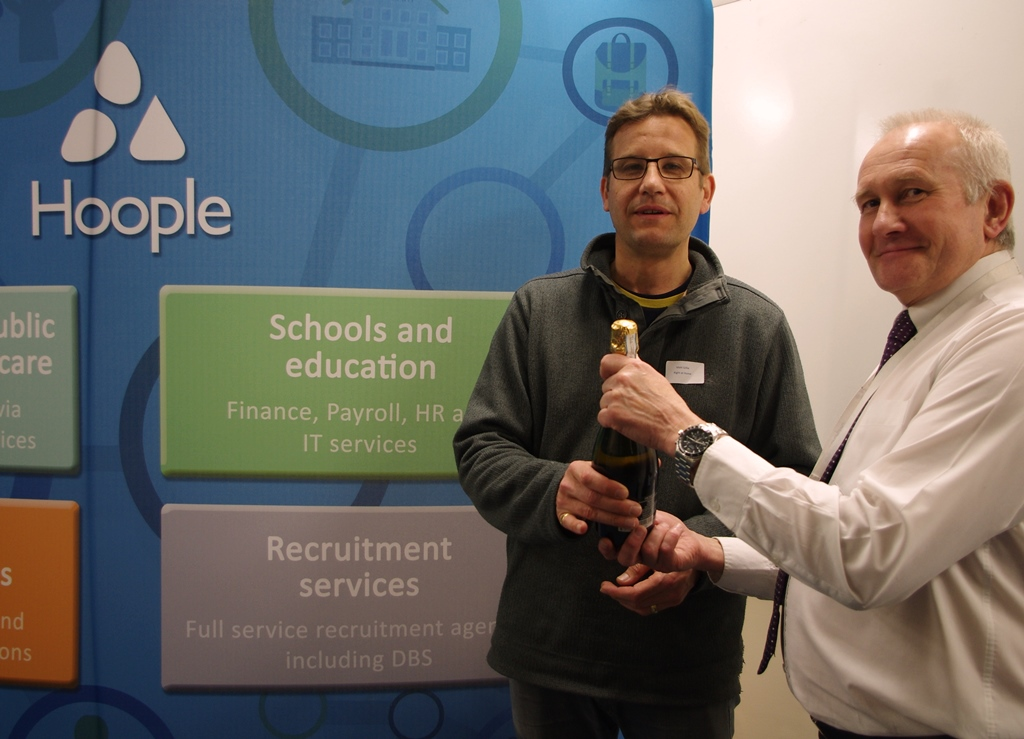 Matt Gillie and Roger Clarke at the Hoople Open Evening May 2016