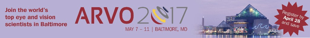 ARVO 2017 · May 7–11· Baltimore, MD