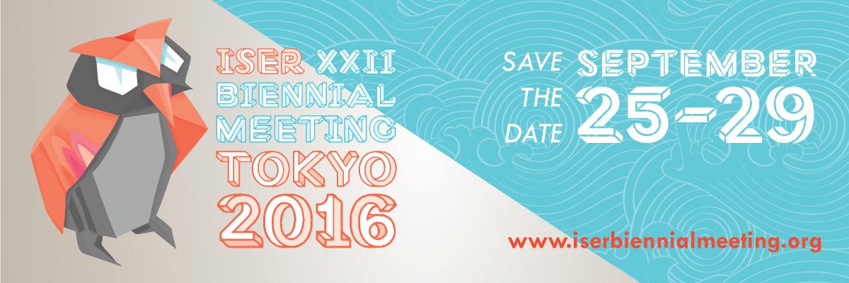 ISER 2016 Biennial Meeting - Tokyo, Japan - Sept 26-30