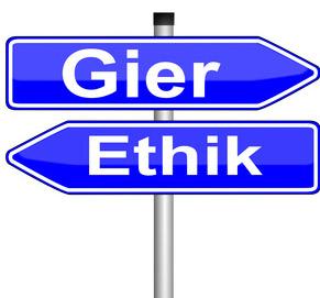 Gier und Ethik