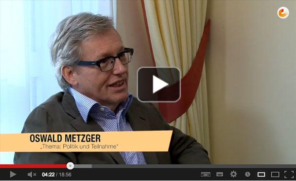 Interview mit dem Publizisten und Politiker Oswald Metzger und dem VDMA-Referenten Axel Sandvoss