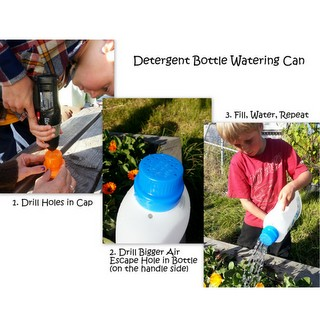 Make a Detergent Bottle Watering Can