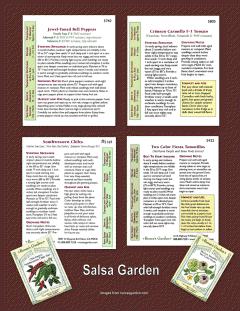 Edible Crop Plans - Salsa Garden