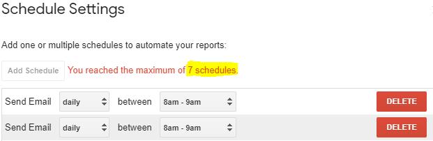 Screenshot: Time Schedule Limit in Free Version