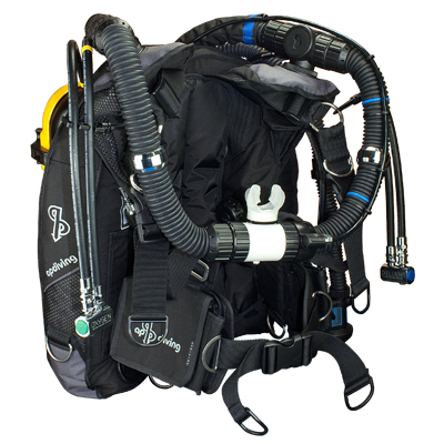 APD Rebreather with Back Mounted Counterlungs