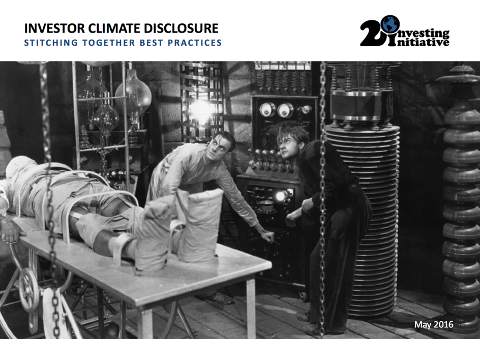 'Frankenstein' challenge: Climate Disclosure Options for Investors