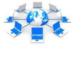 computers around a globe
