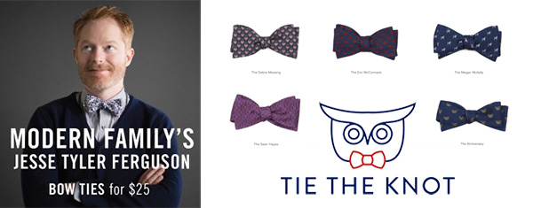 Jesse Tyler Ferguson bow ties to support OutRight