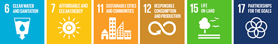 SDG Goals of the 2030 Agenda 6, 7, 11, 12, 15 and 17