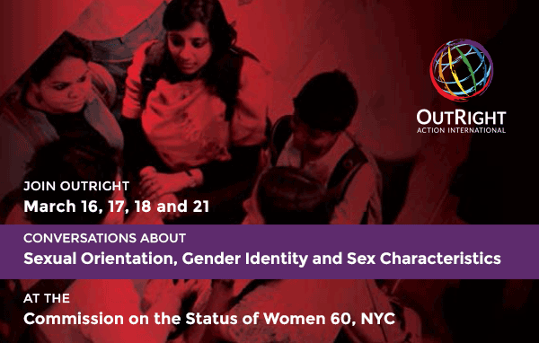 Join OutRight at CSW 60: Conversations about SOGI and Sex Characteristics