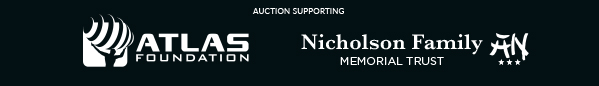 auction supporting Atlas Foundation and The Nicholson Family Memorial Trust