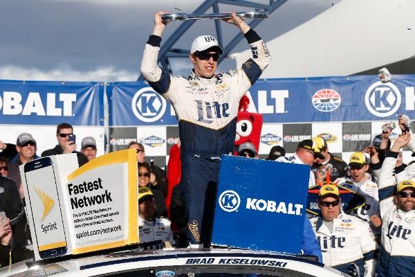 Keselowski secured the first win for Team Penske in the desert at Las Vegas Motor Speedway - #NASCAR