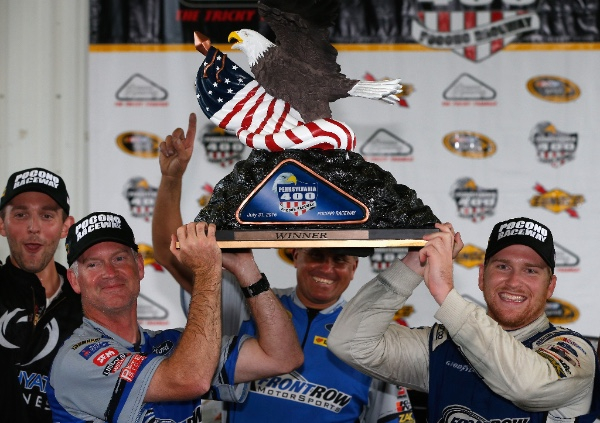 #NASCAR Sprint Cup Rookie driver No. 34, Chris Buescher won his first Sprint Cup race at Pocono Raceway for Front Row MotorSports and secured his spot in the Chase at Richmond this past weekend.