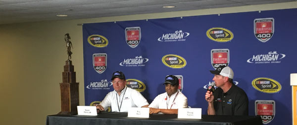 The Michigan 400 win also marked a milestone for Roush Yates Engines, achieving the 100th #NASCAR Cup Series points win with Ford Performance.