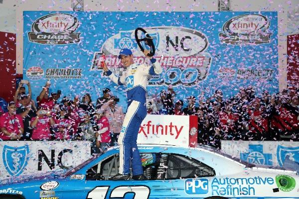 Logano Wins Xfinity At Charlotte