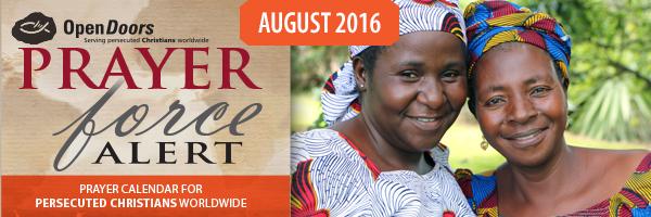 Prayer Calendar August 2016