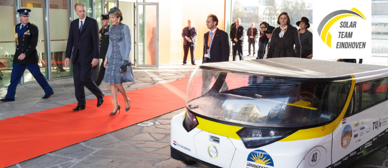 King Filip and Queen Mathilde of Belgium at the High Tech Campus next to Stella