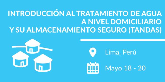 Curso TANDAS en Perú, 18-20 mayo, 2017