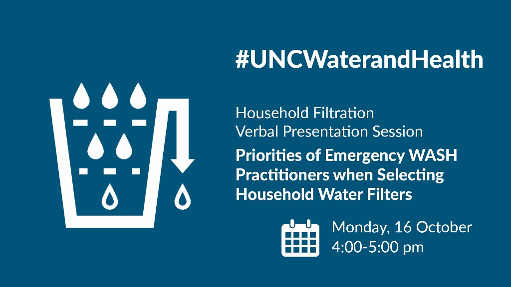 Priorities of Emergency WASH Practitioners when Selecting Household Water Filters