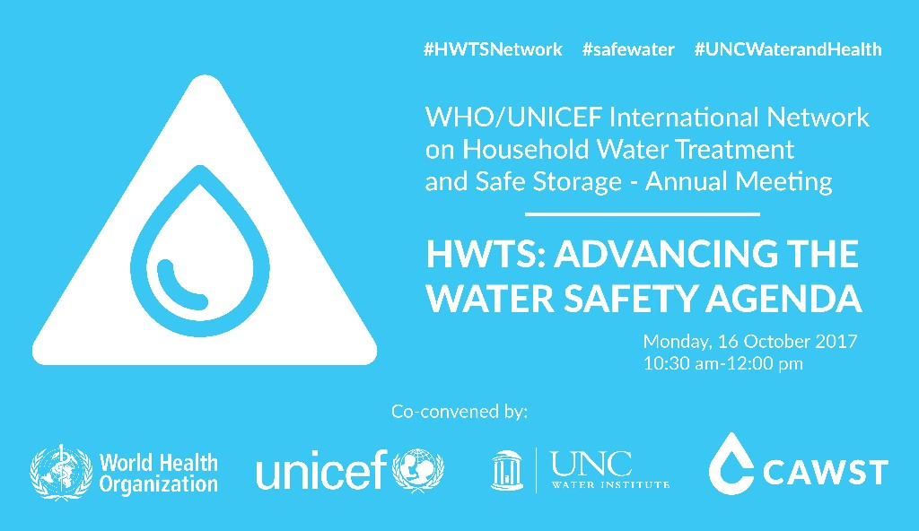 HWTS Network Meeting - UNC Water and Health 2017