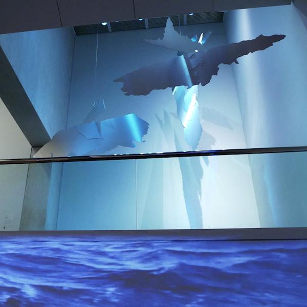 Georgie Friedman: Fragments ofAntarctica, Museum of Fine Arts, Boston, exhibition view, Below Churning Ice, 2019
